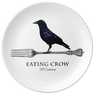 Eating Crow Decorative Plate