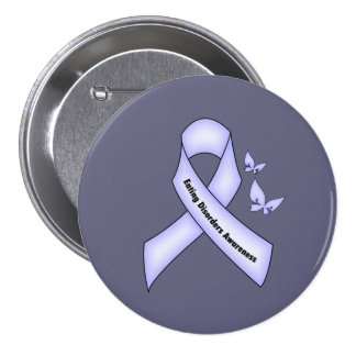 Eating Disorders Awareness 7.5 Cm Round Badge
