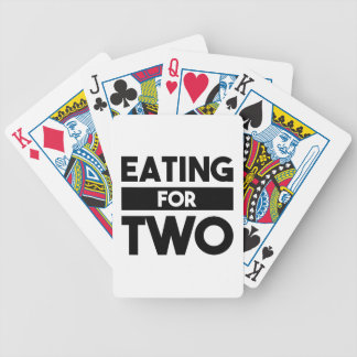 Eating for Two Bicycle Playing Cards