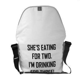 Eating For Two Drinking For Three Messenger Bags
