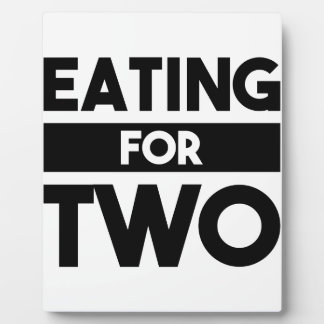 Eating for Two Plaque