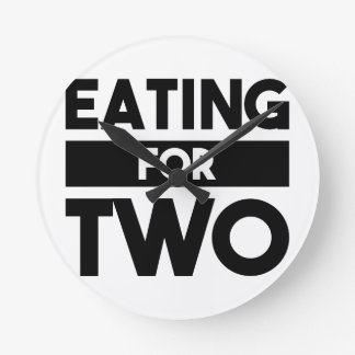 Eating for Two Round Clock