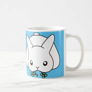 Eating grommet cell rabbit coffee mug