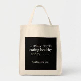 Eating Healthy Grocery Tote Grocery Tote Bag