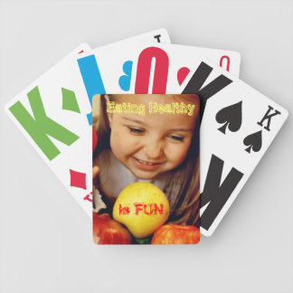 Eating Healthy is FUN Cute Playing Cards