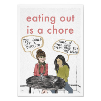 Eating Out Print Photographic Print