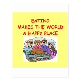 eating postcard