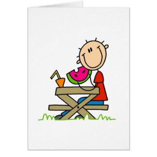 Eating Watermelon Card