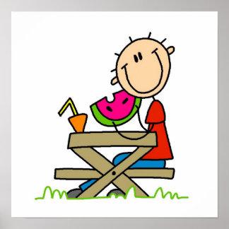Eating Watermelon Print