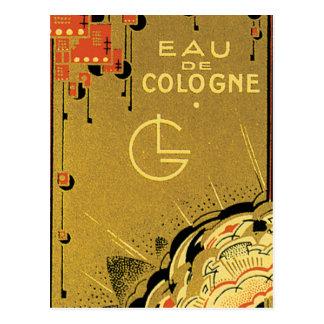 Eau De Cologne Gold Postcard