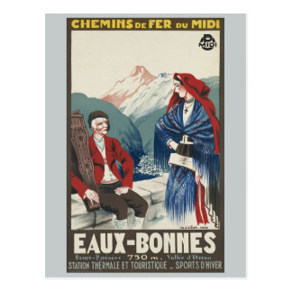 Eaux-Bonnes France Railways Vintage Postcard