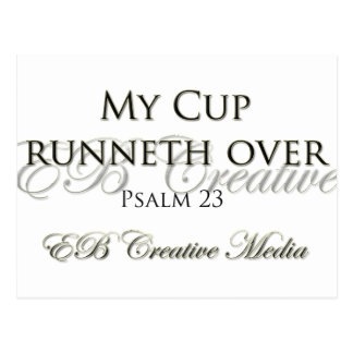 EB Creative Media - My Cup Runneth Over Postcard