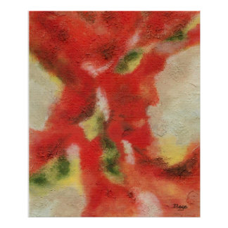 Ebb and Flow Large Abstract Art Original Painting Poster