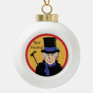 Ebenezer Scrooge Ceramic Ball Christmas Ornament