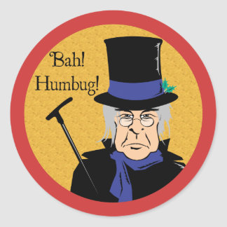 Ebenezer Scrooge Classic Round Sticker