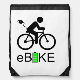 """Ebike"" drawstring bags"
