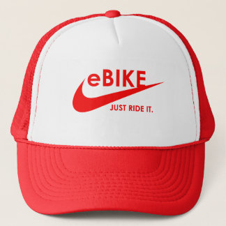 """eBIKE - JUST RIDE IT."" custom hats and caps"