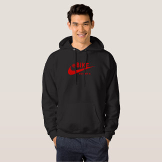 """eBIKE - JUST RIDE IT."" custom hoodies for men"