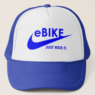 """""""eBike - Just ride it"""" cycling hats"""