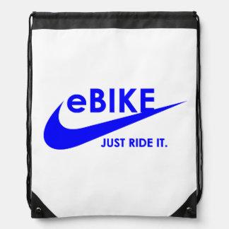 """eBike - Just ride it"" drawstring bag"