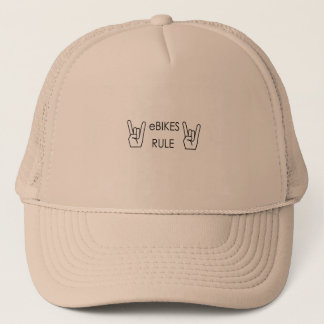 """Ebikes Rule"" hats"