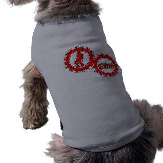 """EBM Logo_3"" Doggie Ribbed Tank Top Pet Tshirt"