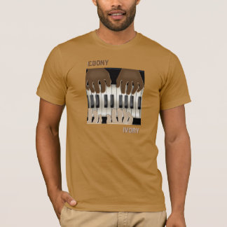 Ebony and Ivory - Dueling Keyboards T-Shirt