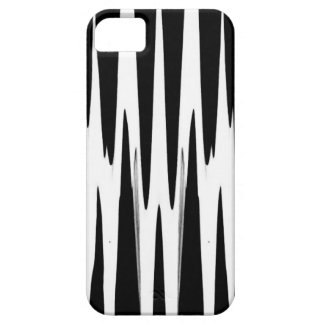 EBONY AND IVORY zebra stripe (abstract art design) iPhone 5 Cover
