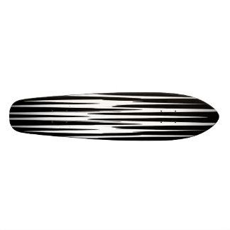 EBONY AND IVORY zebra stripes abstract art design Skate Board Decks