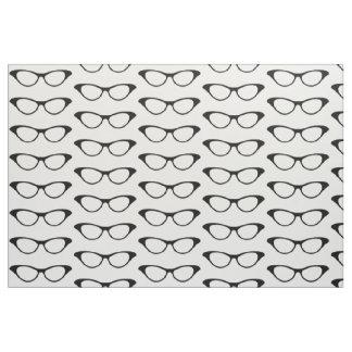 Ebony Girly Geek Glasses Fabric