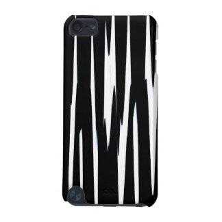 EBONY & IVORY (black & white zebra stripe design) iPod Touch (5th Generation) Cases
