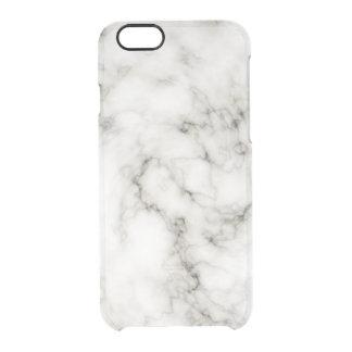 Ebony Ivory Marble Black White Marble Stone Clear iPhone 6/6S Case