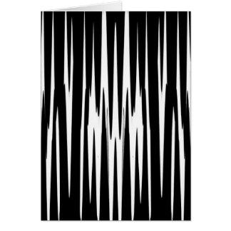 EBONY & IVORY (zebra stripe abstract art) ~ Greeting Card