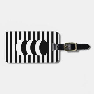 Ebony Snow Personalized Luggage Tag