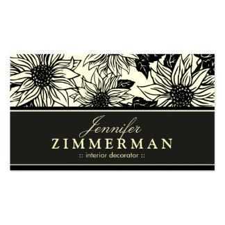 Ebony Sunflowers Floral Business Card