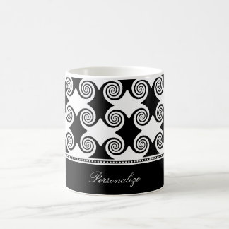 Ebony Swirls Coffee Mug