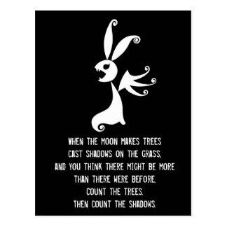 Ebony the Shadow Rabbit Postcard