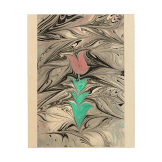 Ebru Tulip Wooden Art