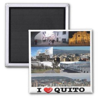 EC - Ecuador - Quito - I Love Square Magnet