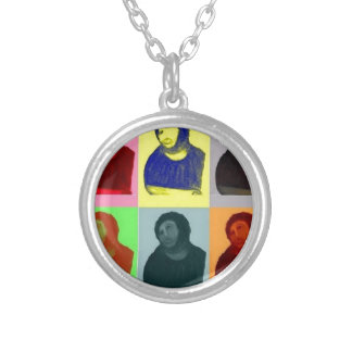 Ecce Homo - Pop Art Style Silver Plated Necklace