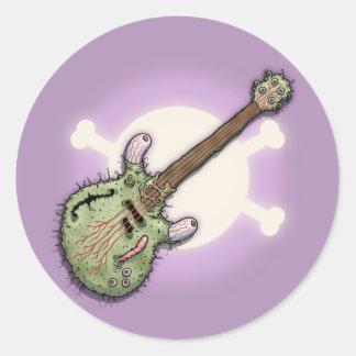 Ecclectric Guitar Classic Round Sticker