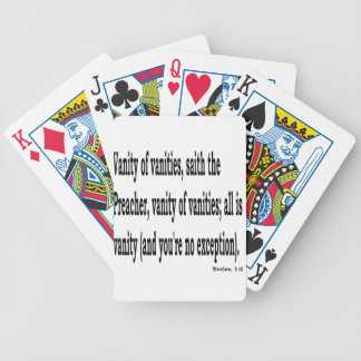 Eccles. 1:2, w2 bicycle playing cards