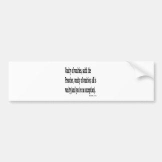 Eccles. 1:2, w2 bumper sticker