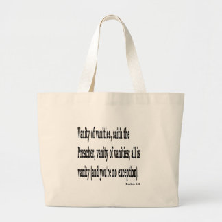 Eccles. 1:2, w2 large tote bag