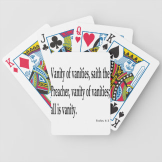 Eccles. 1:2, w bicycle playing cards