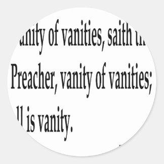 Eccles. 1:2, w classic round sticker