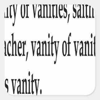 Eccles. 1:2, w square sticker