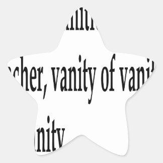 Eccles. 1:2, w star sticker