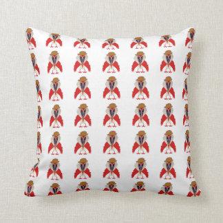 Eccles The Elder Cartoon Bird Throw Cushion