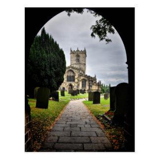ecclesfield church postcard